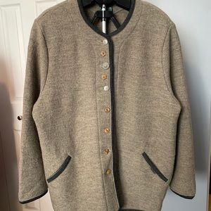 Vintage GEIGER 100% Wool Cardigan Jacket 46 XL/1X